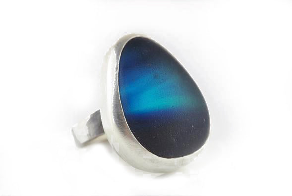 Deep Blue Sea Glass Ring | Gina Cowen | Primavera Gallery