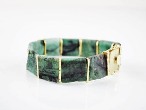 Emerald Tab Bracelet | Rebecca Smith | Primavera Gallery