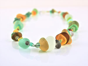 Green Sea Glass Necklace | Gina Cowen | Primavera Gallery