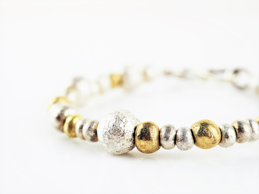 Smith, Rebecca – Silver and Gold Nugget Bracelet