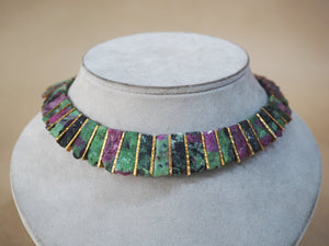 Smith, Rebecca – Ruby Zoisite Collar Necklace