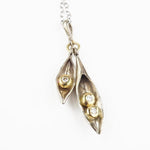 Troughton, Claire – White Gold Pea Pod Pendant