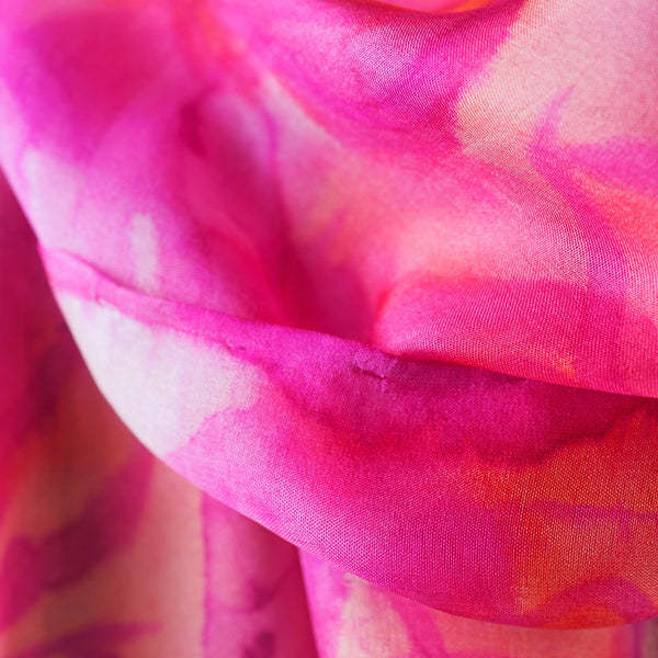 DeRome, Maureen (Mo) – Pink Painted Silk Scarf | Maureen (Mo) DeRome | Primavera Gallery