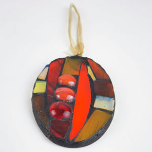 Hall, Kay – Red/Orange Glass Hanging | Kay Hall | Primavera Gallery