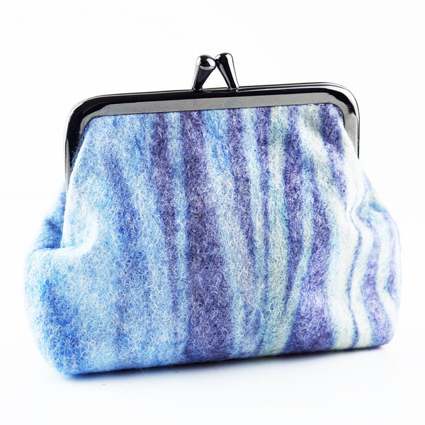 Clay, Liz – Blue Felt Purse | Liz Clay | Primavera Gallery