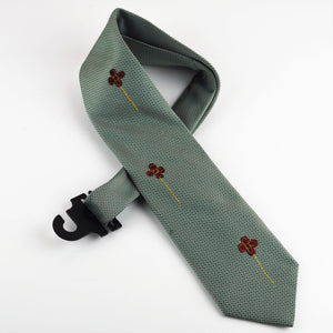 Beresford, Sarah – Vibrant Green Tie With Flowers | Sarah Beresford | Primavera Gallery