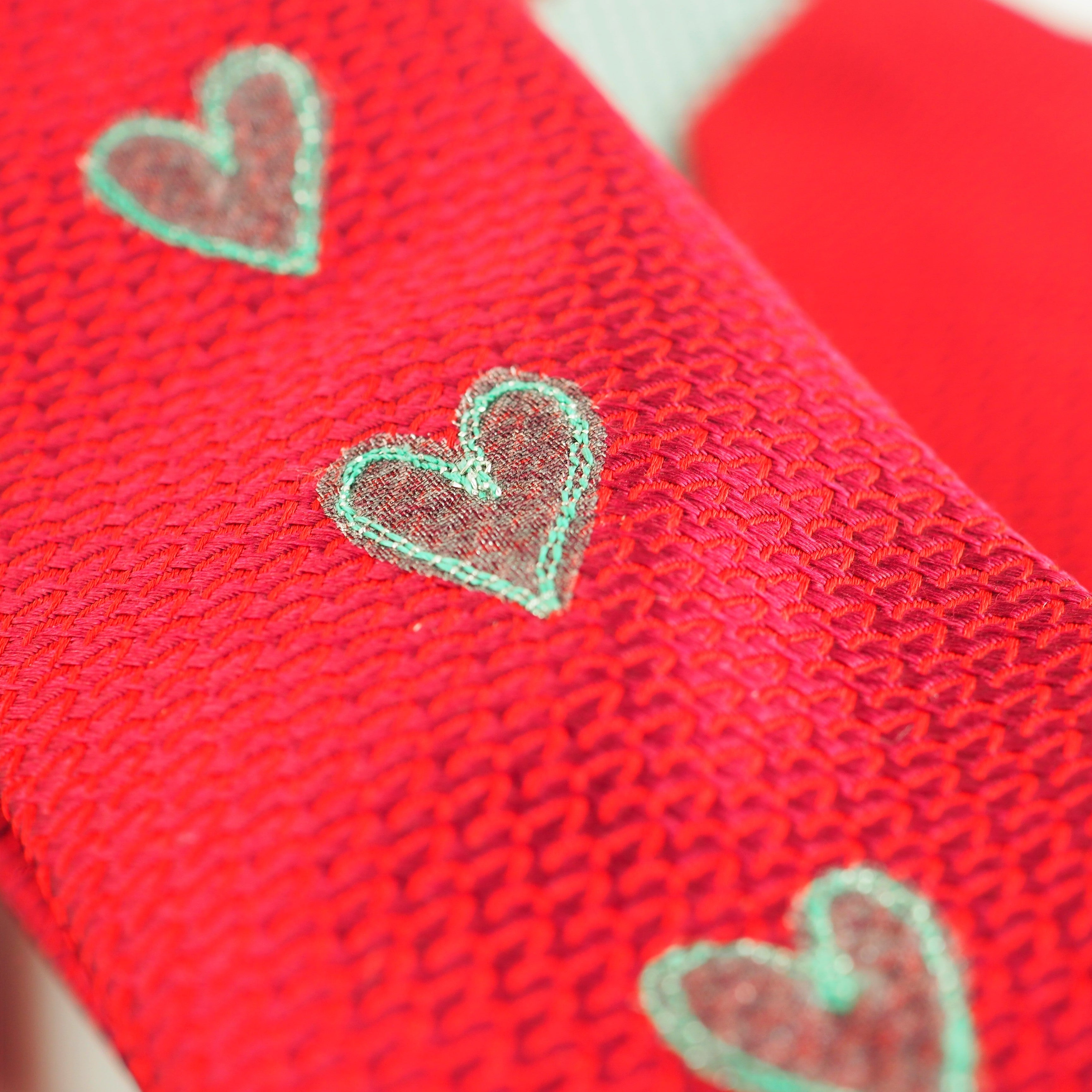 Beresford, Sarah – Reptile Red Tie With Hearts | Sarah Beresford | Primavera Gallery