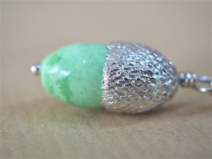 High, Charlie - Variscite and Silver Acorn Pendant