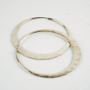 Lever, David - Large Silver Hoops | David Lever | Primavera Gallery