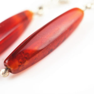 Belsher, Holly – Silver and Carnelian Earrings | Holly Belsher | Primavera Gallery