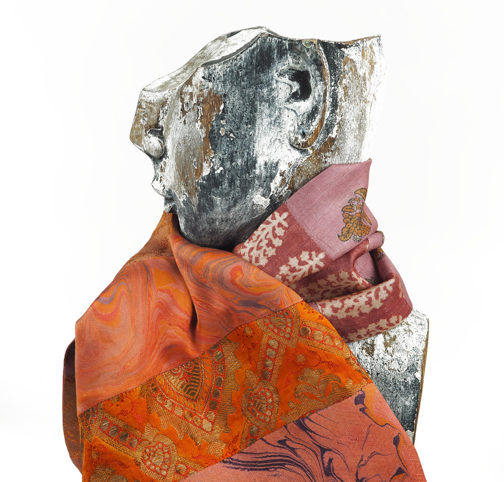 Blondel, Tess – Purple Patterned Silk Scarf | Tess Blondel | Primavera Gallery
