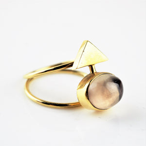 Ramshaw, Wendy – Smokey Quartz 18ct Gold Three Ring Set | Wendy Ramshaw | Primavera Gallery