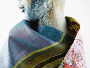 Multi-Patterned Silk Scarf | Tess Blondel | Primavera Gallery