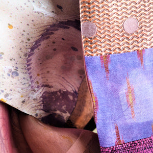 Blondel, Tess – Pink Patterned Silk Scarf | Tess Blondel | Primavera Gallery
