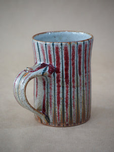 Goldsmith, Robert – Large Red & Blue Pinstripe Mug