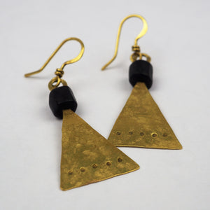 Royle, Guy – Gold and Black Agate Earrings | Guy Royle | Primavera Gallery
