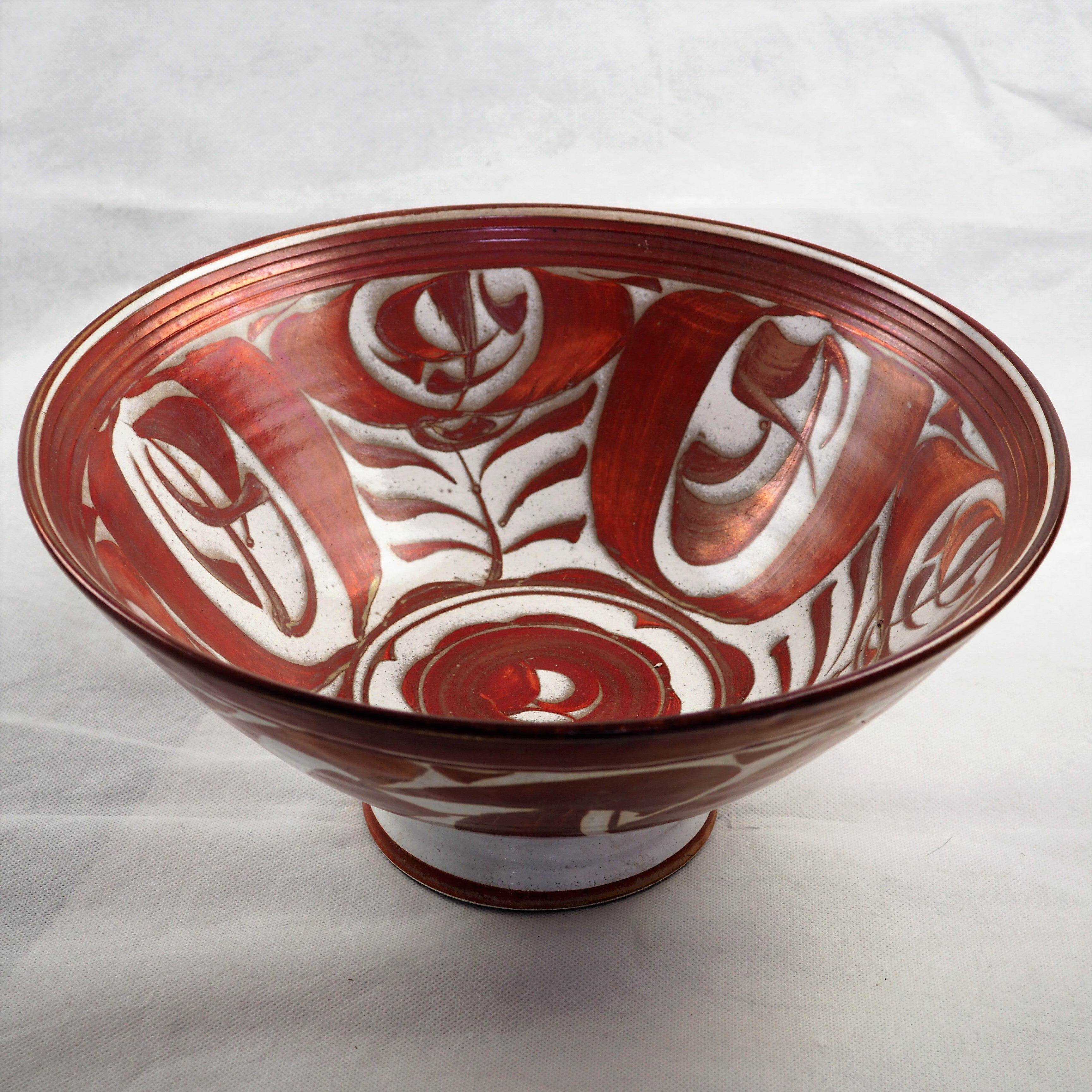 Caiger-Smith, Alan – Lustreware Handpainted Bowl | Alan Caiger-Smith | Primavera Gallery