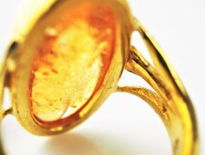 Harris, Charmian – Amber Gold Ring | Charmian Harris | Primavera Gallery