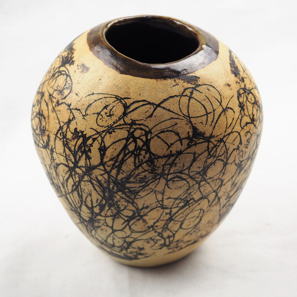 Lane, David - Ceramic Pot With Sgraffito | David Lane | Primavera Gallery