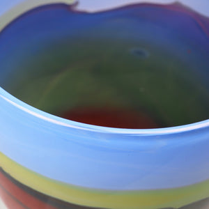 Layton, Peter – Blue And Red Glass Vessel | Peter Layton | Primavera Gallery