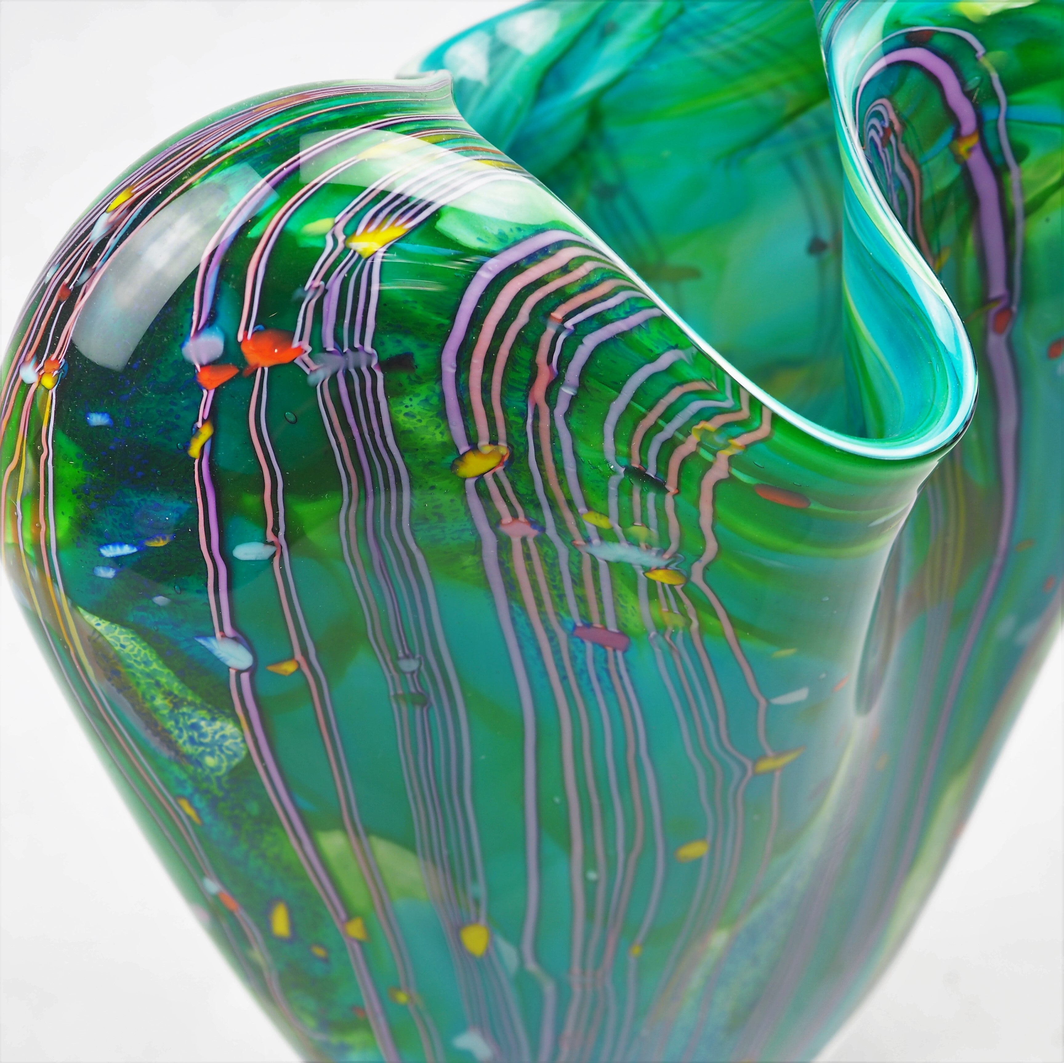 Layton, Peter – Green Vessel With Lip | Peter Layton | Primavera Gallery