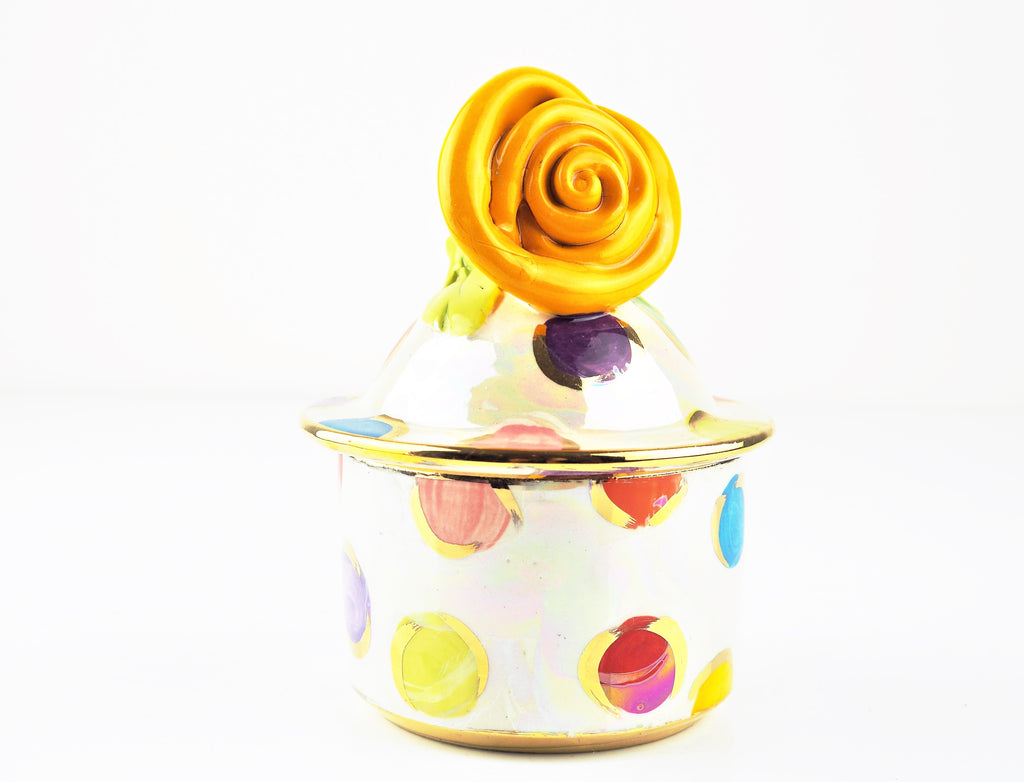 Rose Young, Mary – Rose Tangerine Sugar Bowl