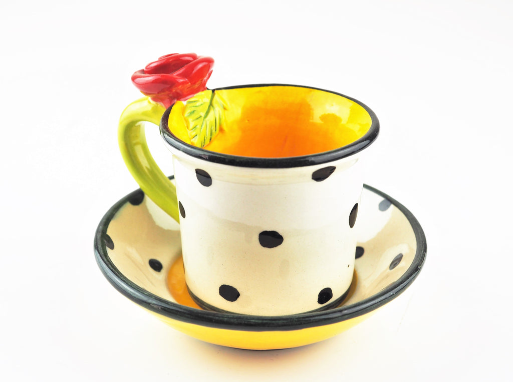 Young, Mary Rose – Rose Spotted Tea Cup | Mary Rose Young | Primavera Gallery