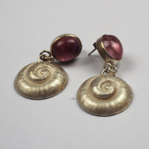 Ilett, Rebecca - Shell Earrings With Tourmaline