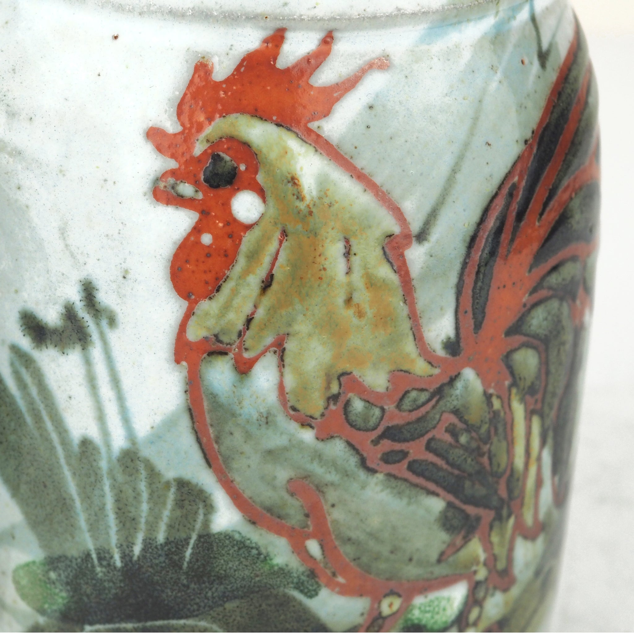 Kellam, Colin – Large Hand Painted Mug with Rooster Design | Colin Kellam | Primavera Gallery