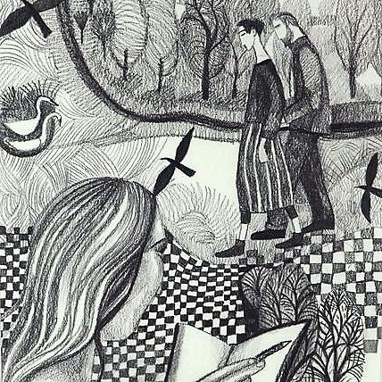 Nickerson, Dee – The Couple On The Marsh | Dee Nickerson | Primavera Gallery