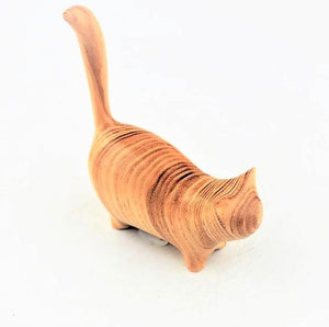 Lancaster, Perry – Small Ash Cat Sculpture | Perry Lancaster | Primavera Gallery