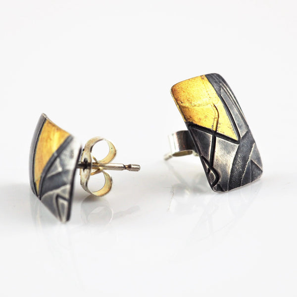 Briggs, Jessica – 'Blockprint' Earrings | Jessica Briggs | Primavera Gallery