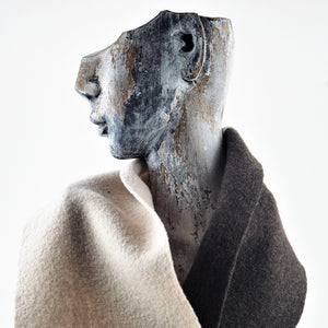 Hardy, Sandra – Brown and Cream Scarf | Sandra Hardy | Primavera Gallery