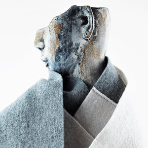 Hardy, Sandra – Grey and Cream Scarf | Sandra Hardy | Primavera Gallery
