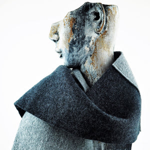 Hardy, Sandra – Grey and Black Scarf | Sandra Hardy | Primavera Gallery