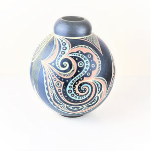 Tingay, Gregory – Blue and Orange Slip Vessel | Gregory Tingay | Primavera Gallery