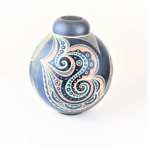 Tingay, Gregory – Blue and Orange Slip Vessel