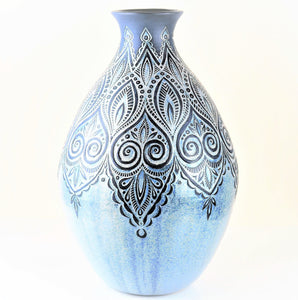 Tingay, Gregory – Pale Blue Slip Vessel | Gregory Tingay | Primavera Gallery