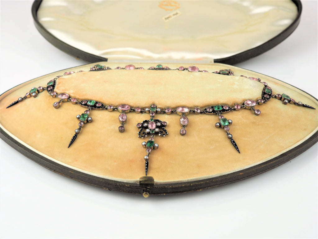 Emerald and Pink Sapphire Necklace | Primavera Gallery  | Primavera Gallery