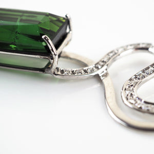 Verdolini, Roberto –  Emerald White Gold Diamond Necklace