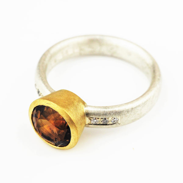 Harris, Natalie - Silver and Yellow Gold Ring | Natalie Harris | Primavera Gallery
