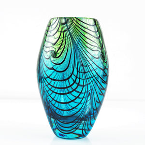 Sanders and Wallace – Turquoise Swirl Vase | Sanders and Wallace | Primavera Gallery