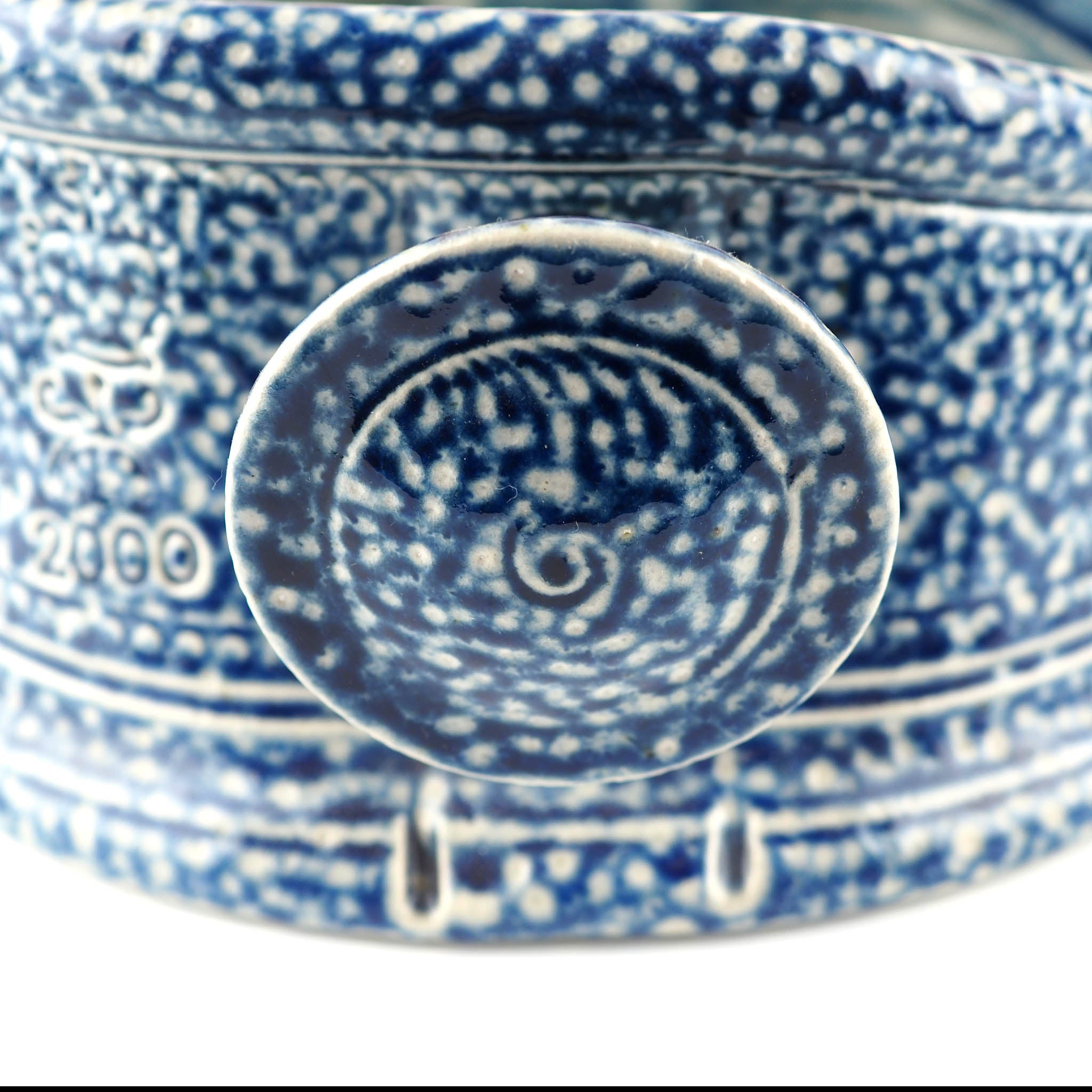 Harrison, Steve – Blue Salt Glaze Decorative Dish | Steve Harrison | Primavera Gallery