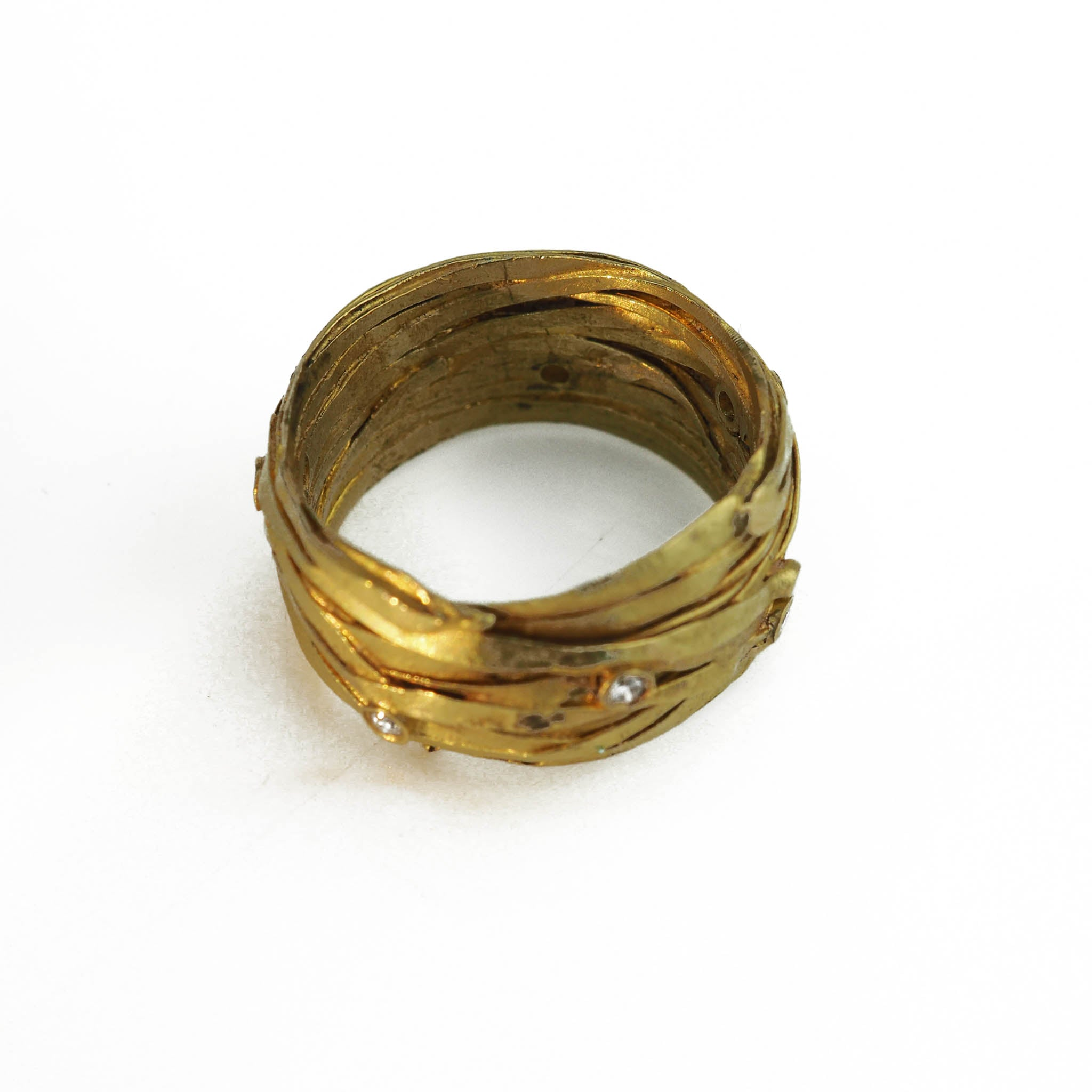 Carlow, Shimara – Silver ring with 18ct Gold | Shimara Carlow | Primavera Gallery