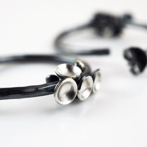 Wall, Jenifer – Silver Cluster Hoop Earrings | Jenifer Wall | Primavera Gallery