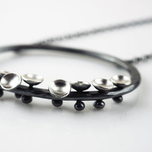 Wall, Jenifer – Silver and Oxidized Necklace