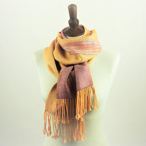 Booker, Cally – Orange and Purple Linn Scarf | Cally Booker | Primavera Gallery