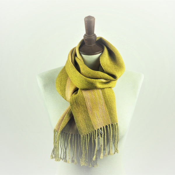 Booker, Cally - Green and Cream Linn Scarf | Cally Booker | Primavera Gallery