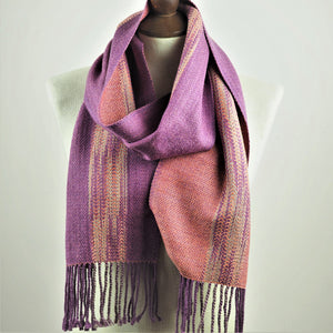 Booker, Cally – Purple and Pink Linn Scarf | Cally Booker | Primavera Gallery