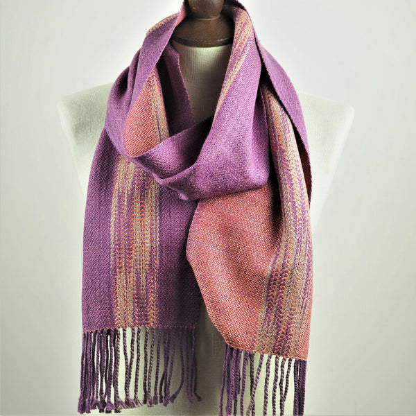 Booker, Cally - Purple and Pink Linn Scarf | Cally Booker | Primavera Gallery
